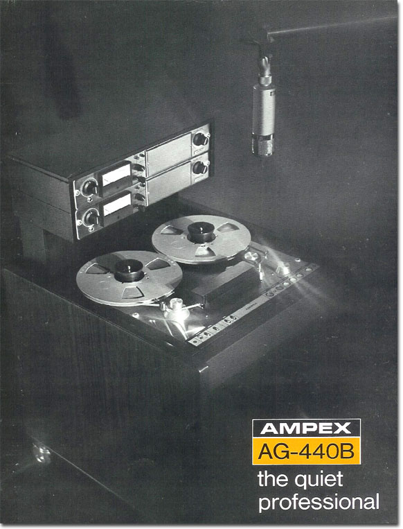 1969 Brochure for the Ampex AG440B professional reel tape recorder in Reel2ReelTexas.com's vintage recording collection
