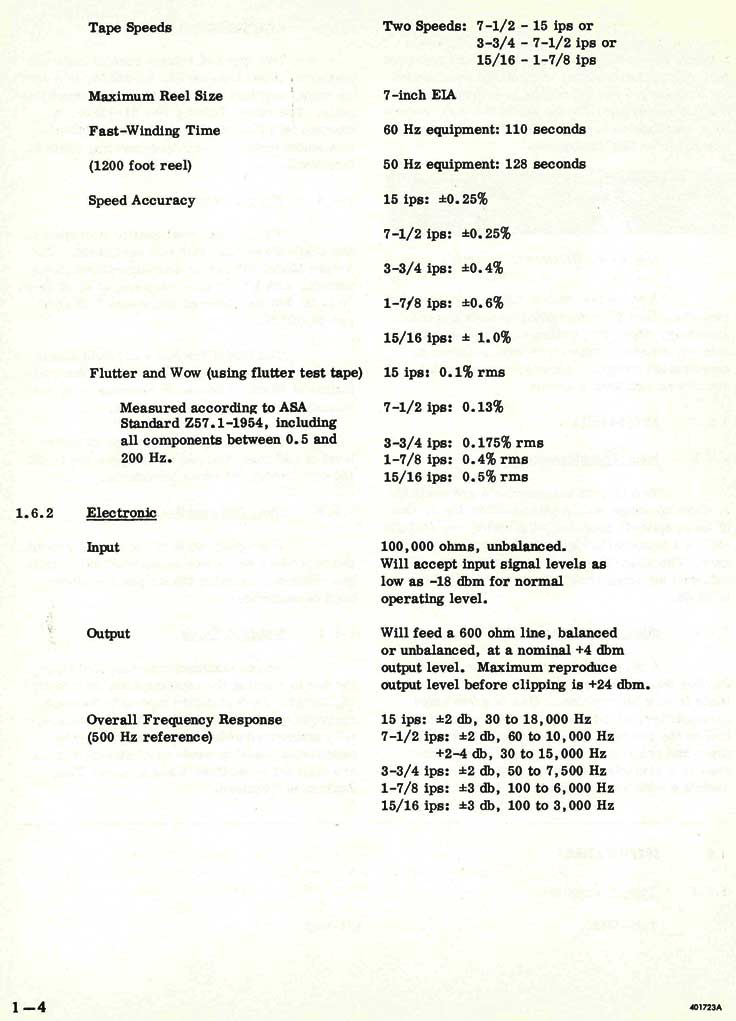 1969 Information about the Ampex AG-500 professional reel tape recorder in Reel2ReelTexas.com's vintage recording collection