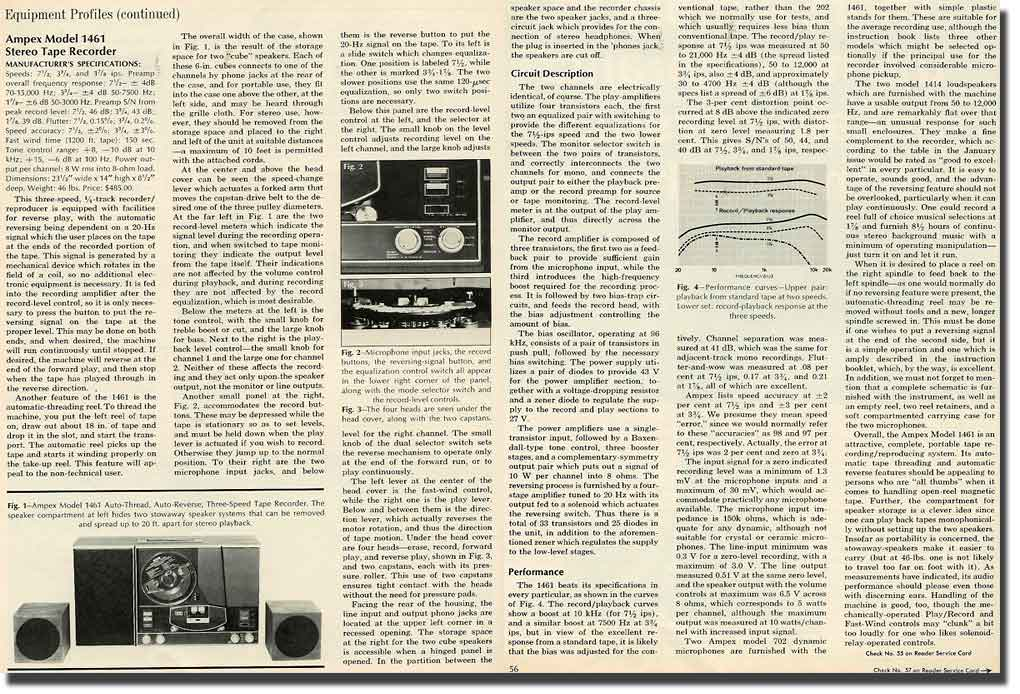 picture of 1969 Ampex 1471 tape recorder Review