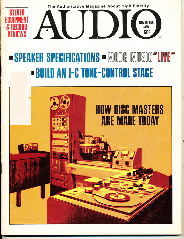1969 cover of the November Audio magazine