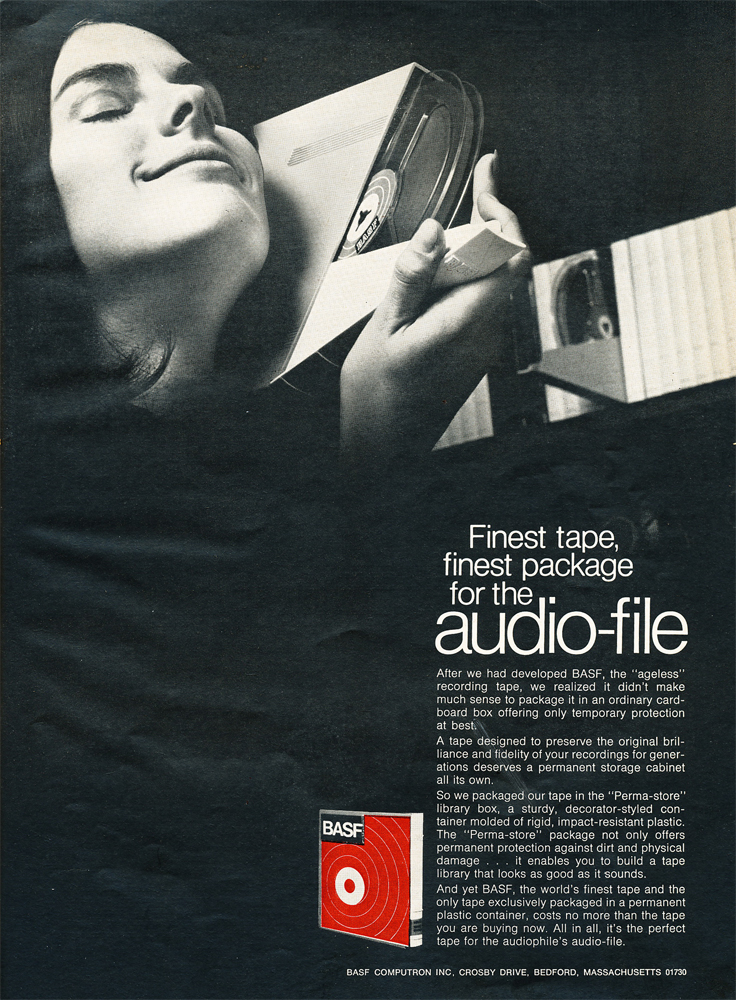 1969 ad for BASF reel to reel recording tape in Reel2ReelTexas.com's vintage recording collection