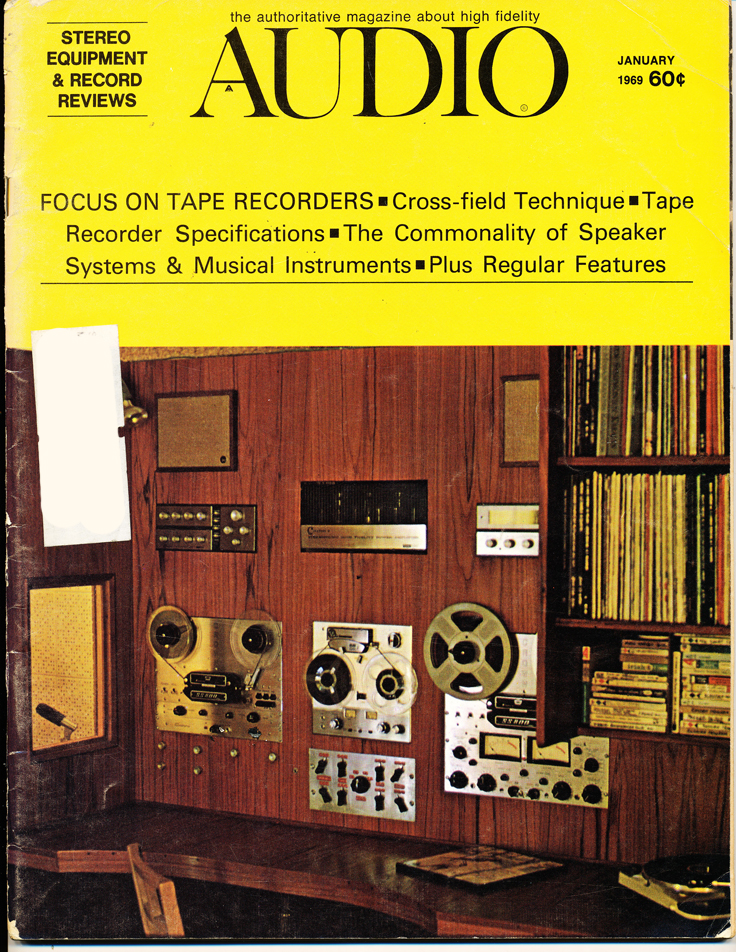 1969 cover of the January Audio magazine in Reel2ReelTexas.com's vintage recording collection