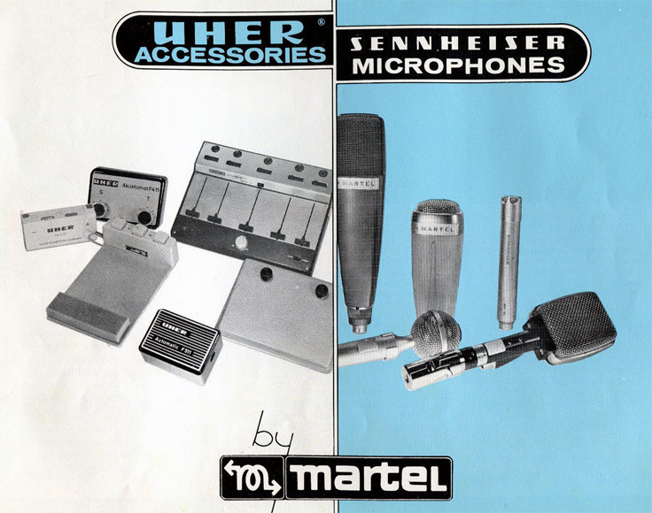 1969 Sennheiser Uher microphone catalog sold by Martel  in Reel2ReelTexas.com's vintage recording collection