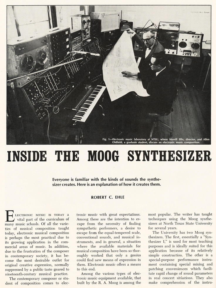 1969 article on the Moog Synthesizer