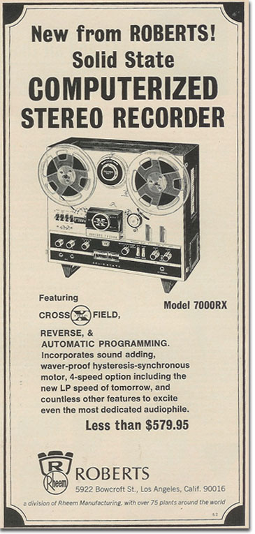 picture of 1969 Roberts 7000RX ad