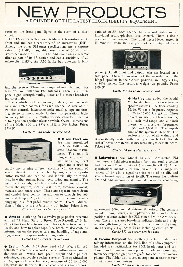New products in the March 1969 cover of the Stereo Review magazine's Special Tape Issue