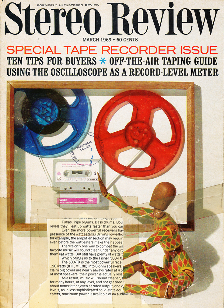 March 1969 cover of the Stereo Review magazine's Special Tape Issue