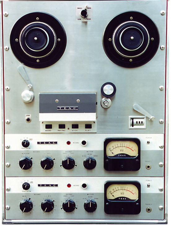 1969 photo of the Teac's R 340 reel to reel tape recorder in the Reel2ReelTexas.com - Museum of Magnetic Sound Recording vintage recording c