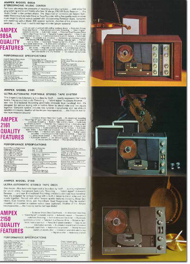 picture of 1970 Ampex catalog