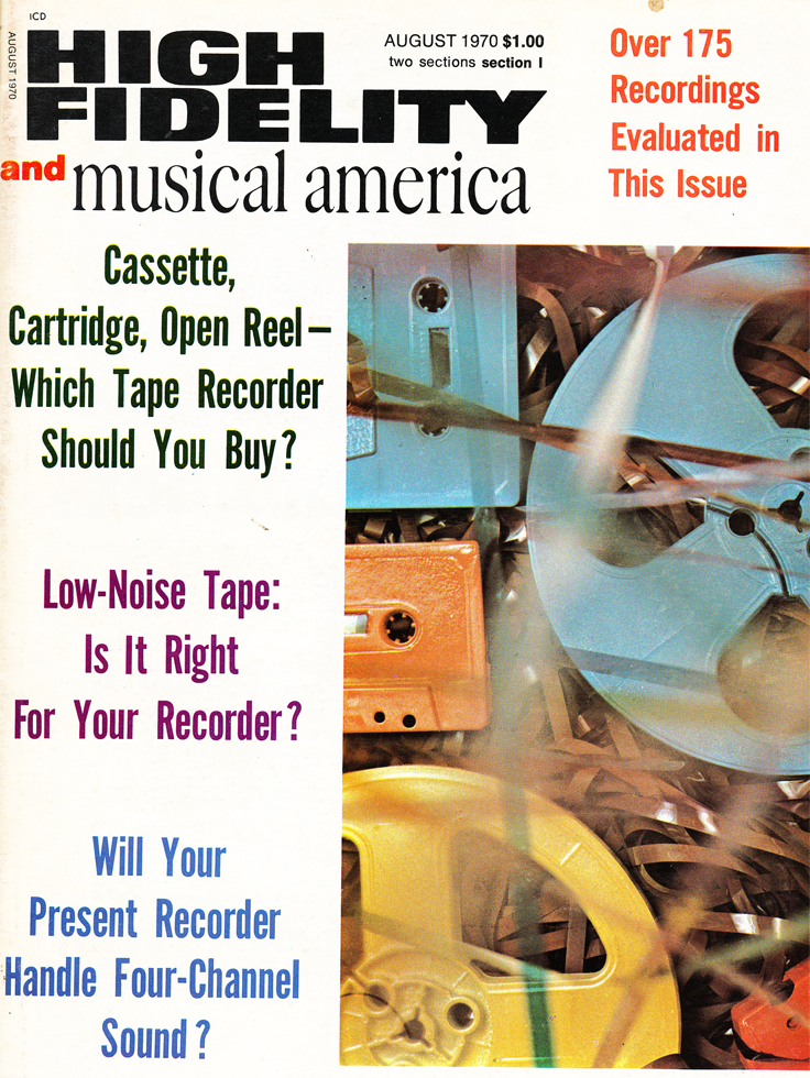 1970 cover of the August Hi Fidelity Tape Recorder Issue in Reel2ReelTexas.com's vintage recording collection