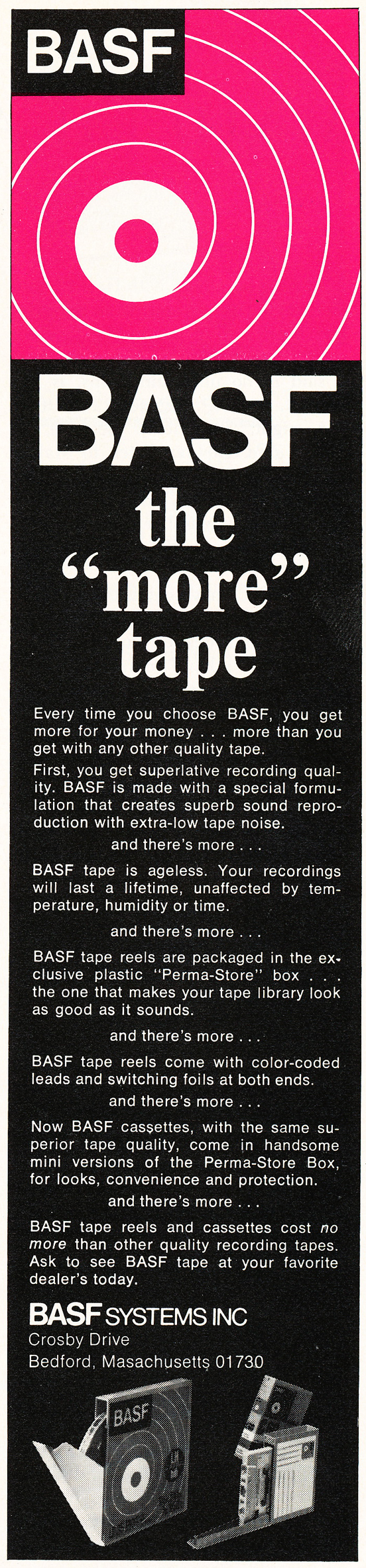 1970 ad for BASF reel to reel recording tape in Reel2ReelTexas.com's vintage recording collection