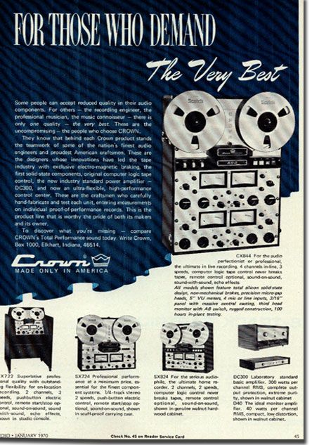 picture of Crown recorder ad