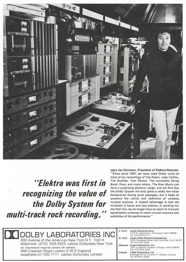 1970 Dolby ad in Reel2ReelTexas.com's vintage recording collection