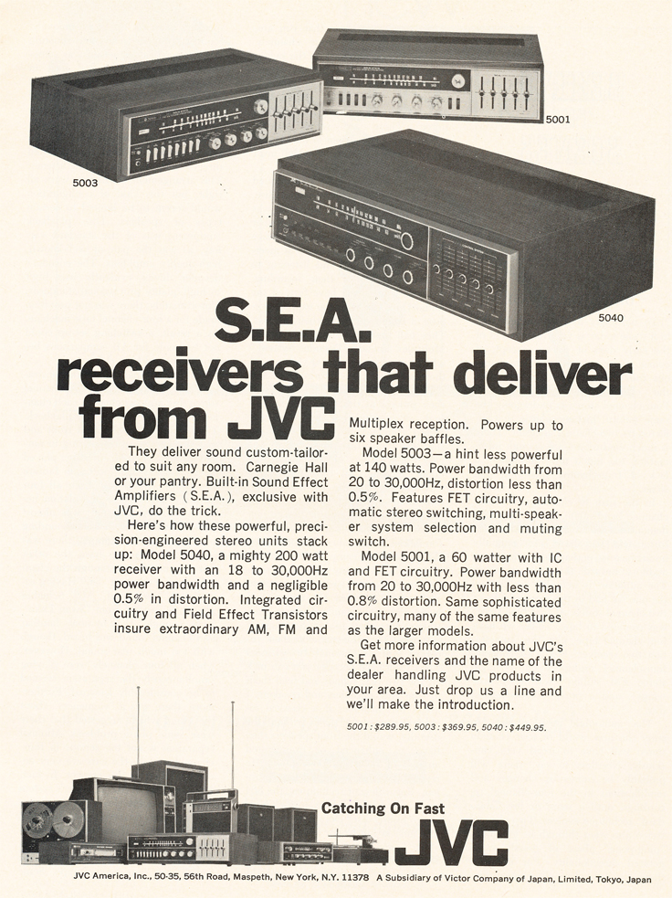 1970 ad for JVC products in Reel2ReelTexas.com's vintage recording collection