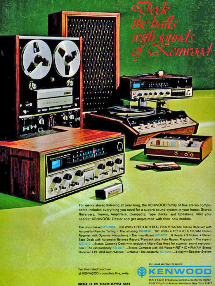 1970 ad for the Kenwood reel to reel tape recorder  ad in the Reel2ReelTexas' vintage reel to reel tape recorder collection