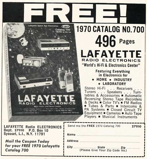 1970 Lafayette Radio catalog ad in Reel2ReelTexas.com's vintage recording collection