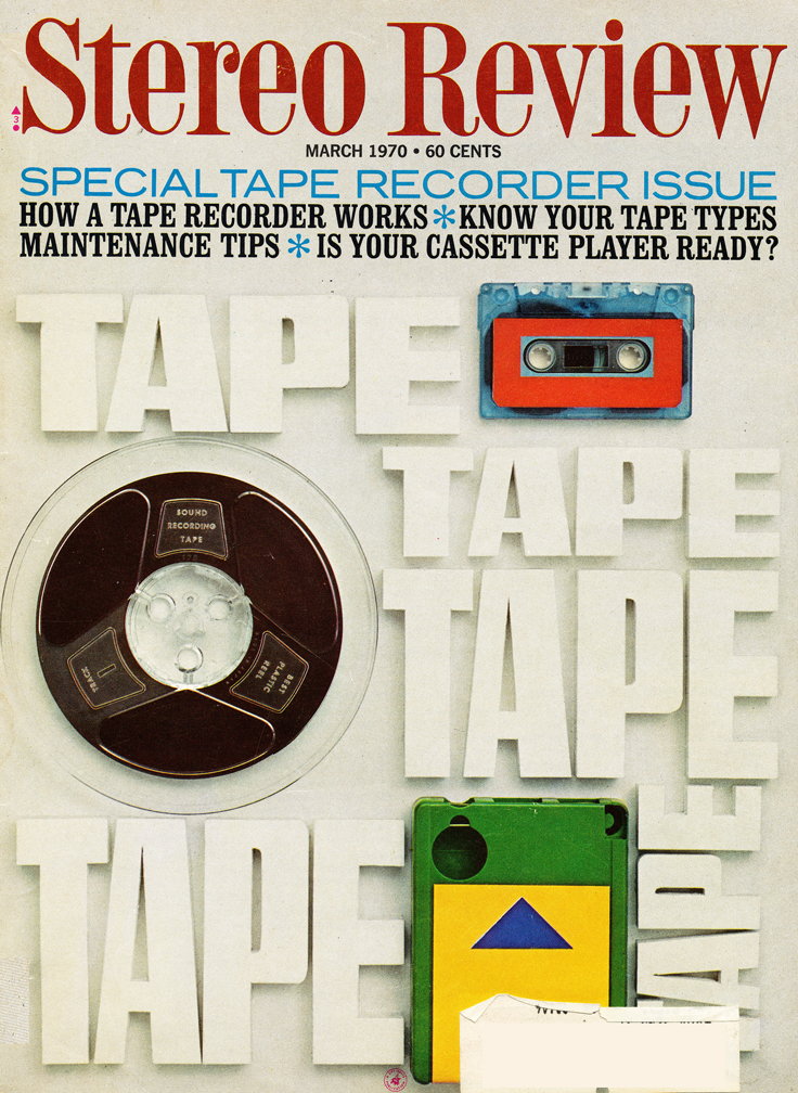 1970 cover of the March Stereo Review Soecial Tape Recorder Issue in Reel2ReelTexas.com's vintage recording collection