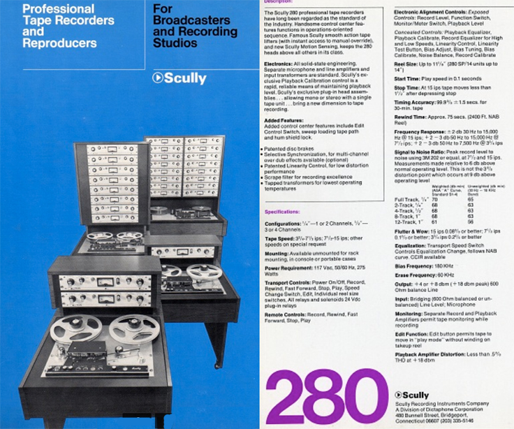 1970 Scully 280 ad in the Reel2ReelTexas.com's vintage recording collection