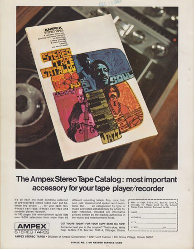 1970 Ampex ad in the Stereo Review Tape Issue in the Reel2ReelTexas.com's vintage recording collection