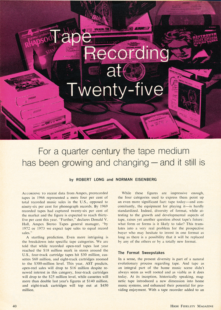 1970 article on the Reel to reel tape recorder at 25 years