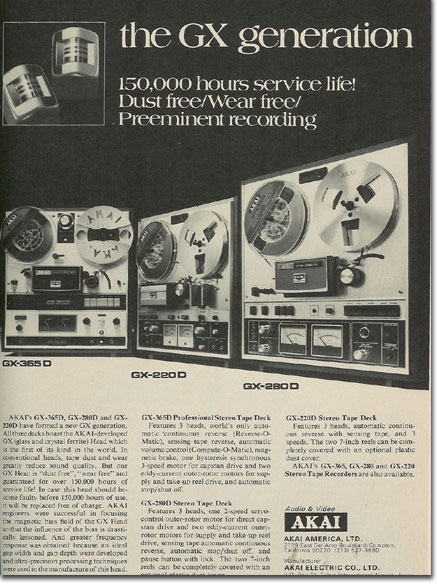 picture of 1971 Akai tape recorder ad