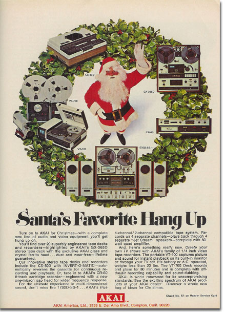 picture of 1971 Akai holiday tape recorder ad