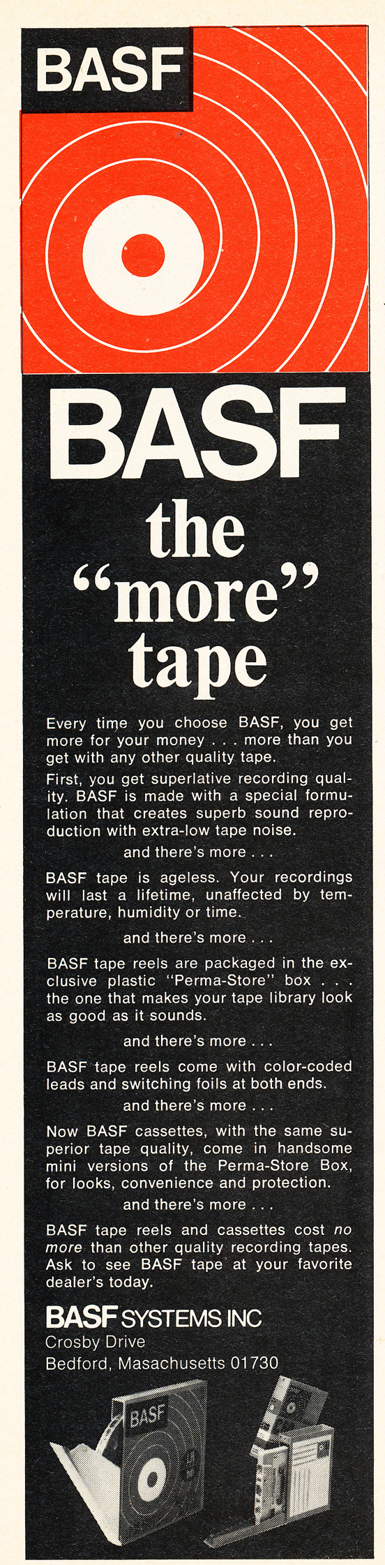 1971 ad for BASF reel to reel recording tape in Reel2ReelTexas.com's vintage recording collection
