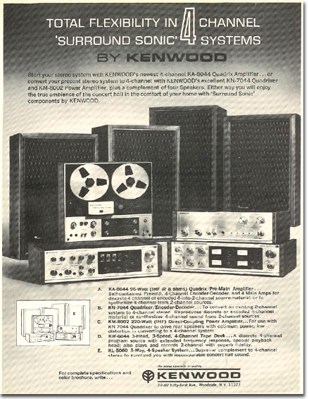 picture of 1971 Kenwood tape recorder ad