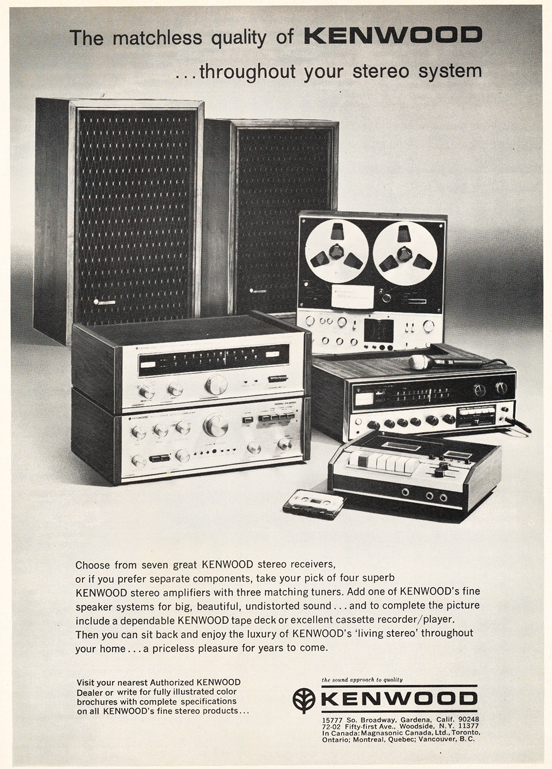 1971 ad for Kenwood equipment including reel to reel tape recorders in Reel2ReelTexas.com's vintage recording collection