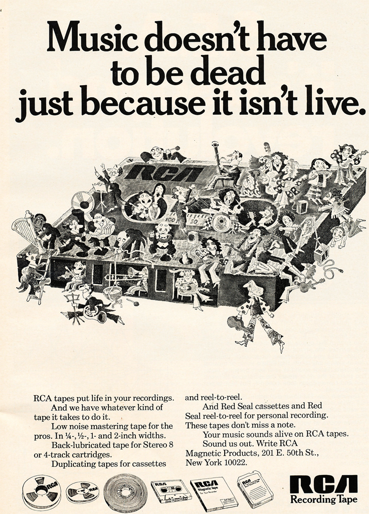 1971 ad for RCA recording tape in Reel2ReelTexas.com's vintage recording collection