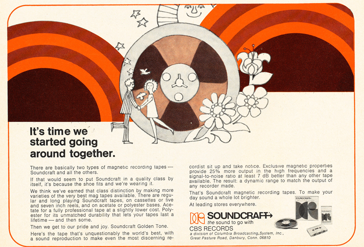 1971 ad for Soundcraft reel to reel recording tape in Reel2ReelTexas.com's vintage recording collection