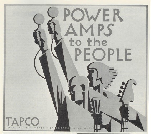 picture of 1971 Tapco ad in Phantom's vintage reel to reel recording collection