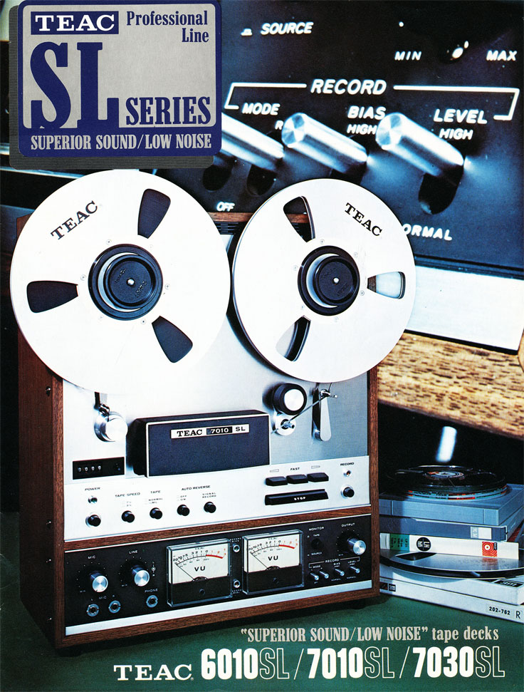 PDF of 1971 Teac brochure for the A-7030, A-7010, A-6010 in the Theophilus vintage reel 2 reel museum