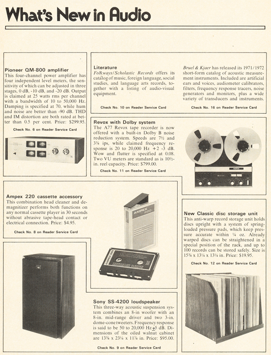 1971 listing of What's New