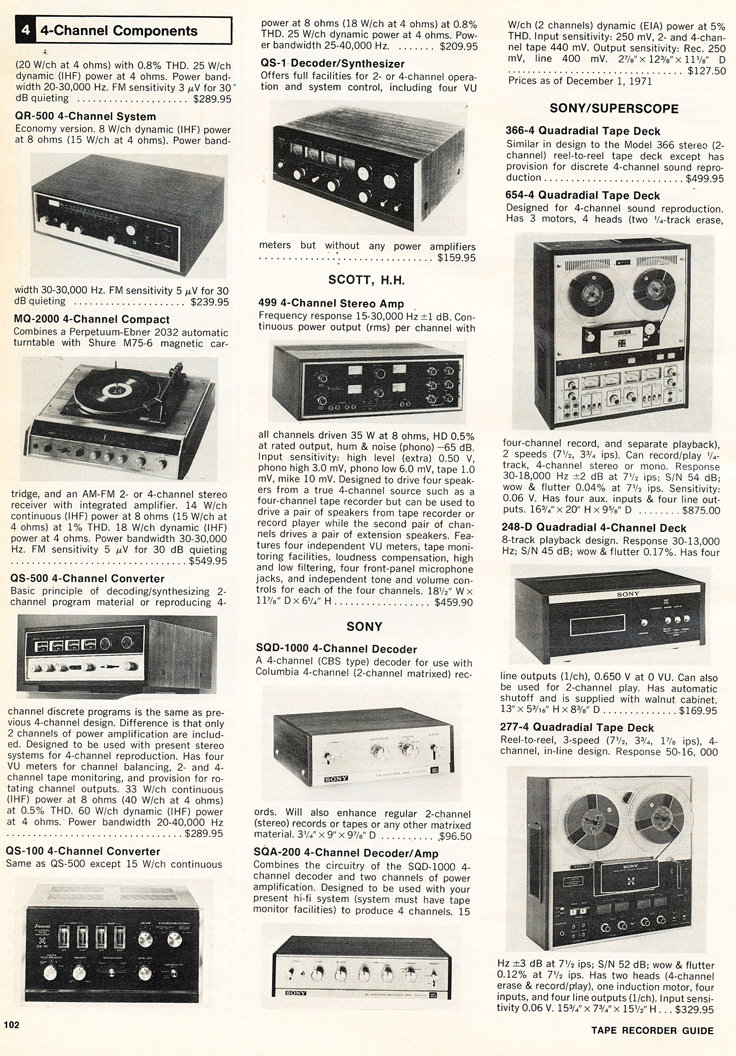 1972 Stereo Review Tape Recorder Issue listing available reel to reel tape recorders in Reel2ReelTexas.com's vintage recording collection