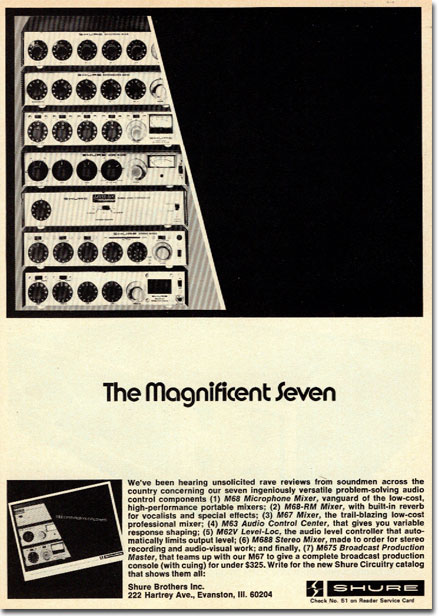 1972 Shure ad