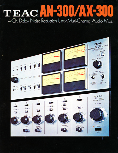 Teac AN-300 and AX-300 brochure in Reel2ReelTexas.com vintage tape recorder collection