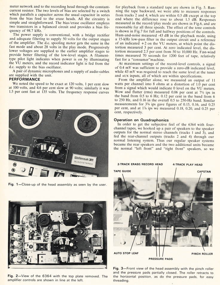 1972 review of the Wollensak 6364 reel to reel tape recorder in Reel2ReelTexas.com's vintage recording collection