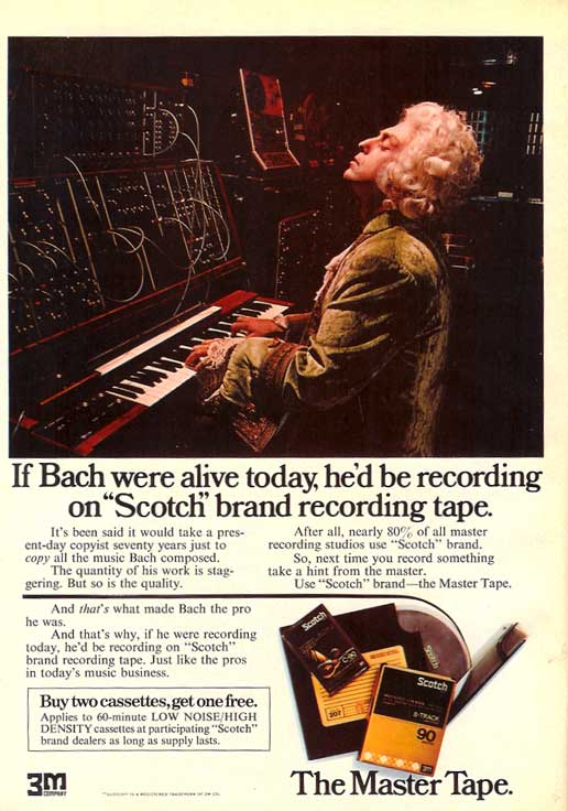1974 Scotch 3M recording tape ad in Phantom Productions vintage recording collection
