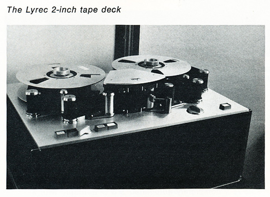 1974 photo of the Lyrec reel tape recorder