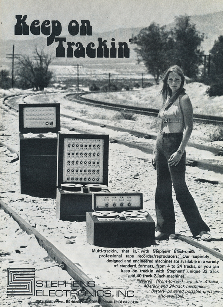 1974 ad for Stephens Electronics professional  reel to reel tape recorders in Reel2ReelTexas.com's vintage recording collection