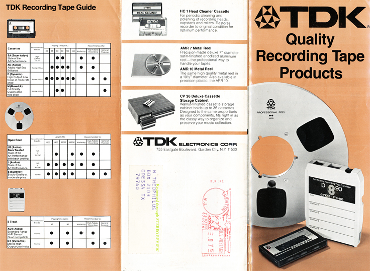 1974 ad for TDK tape products in Reel2ReelTexas.com vintage reel to reel tape recorder collection