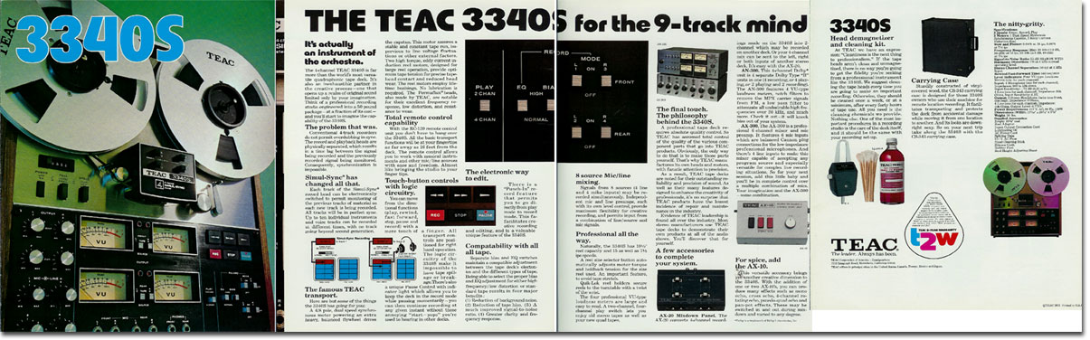 picture of Teac 3340 brochure
