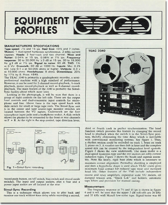 picture of Teac 3340 review