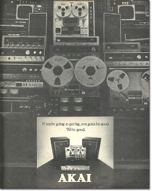 picture of 1975 Akai tape recorder ad