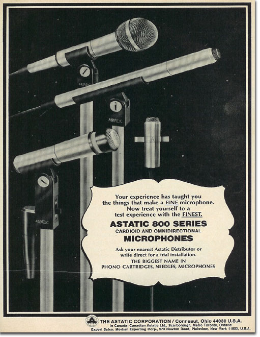 picture of 1975 Astatic microphone ad