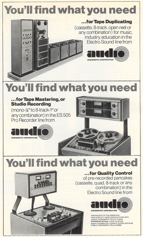 picture of 1975 Audio tape recorder ad