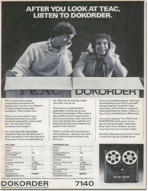 picture of 1975 Dokorder ad