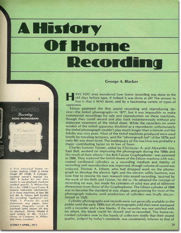 picture of Page 2 of the History of Home Recording