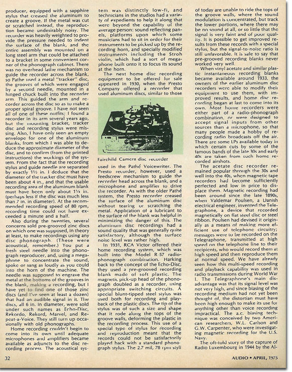 picture of Page 4 of the History of Home Recording